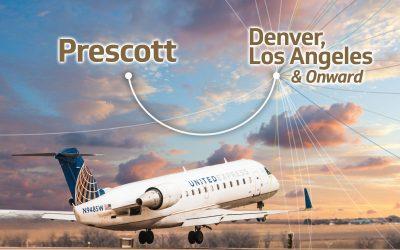 Fly Prescott Regional Airport to LA or Denver Before December 31.